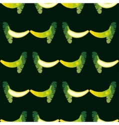 Seamless banana pattern background is on a vector
