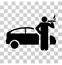 Smoking Taxi Driver Icon vector image