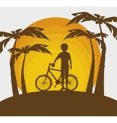 summer vacation holiday icon vector image vector image