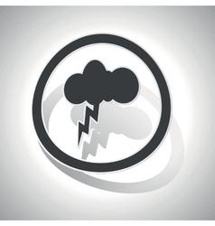 Thunderbolt sign sticker curved vector