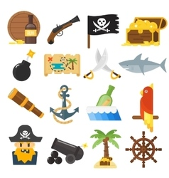 Treasures icons set vector