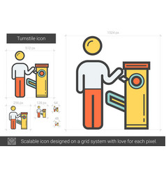 Turnstile line icon vector
