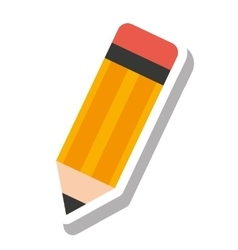 Color pencil school supply icon vector