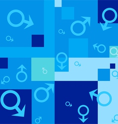 seamless background with male symbols vector image