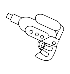 Isolated water gun toy design vector