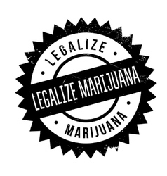 Legalize marijuana stamp vector