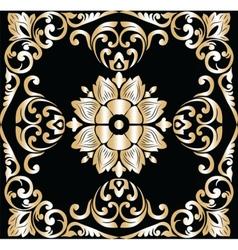 Vintage Golden Classic ornament element vector image