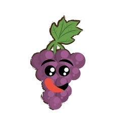 Grapes expressions hungry face vector