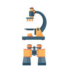 Binoculars optical zoom equipment vector