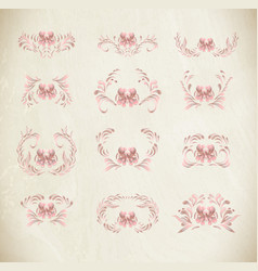 Abstract elegance floral pattern vector