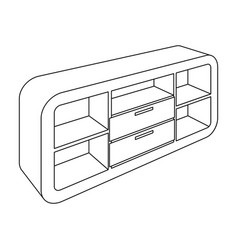 Wooden cabinet with lockers and cupboardstv stand vector