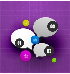Speech bubble steps option banner template vector