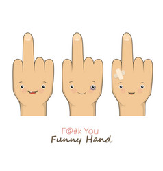 Cartoon middle fingers vector