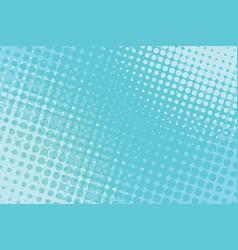 Blue pop art halftone background vector