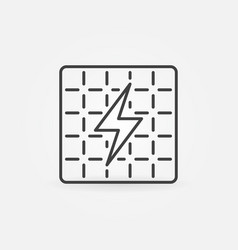 Solar panel outline icon vector