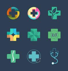 Medical logo set vector