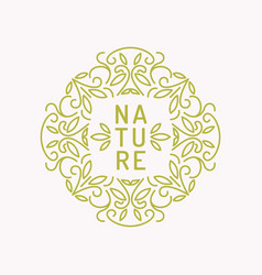Vintage template for natural cosmetics vector