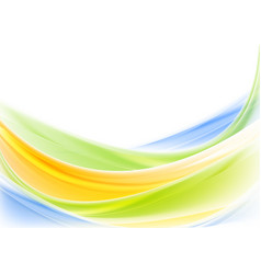 Bright colorful shiny waves design vector