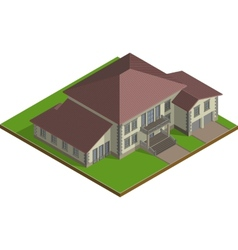 Cottage estate isometric vector