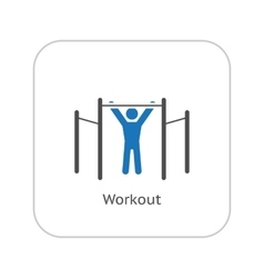 Workout icon flat design vector