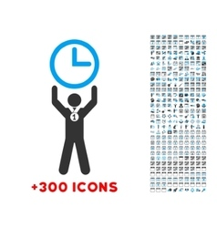 Time champion icon vector