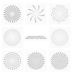 Abstract dot shapes set vector