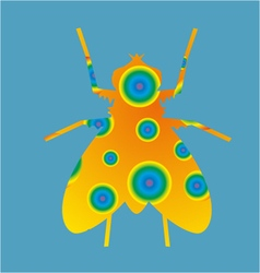 Abstract fly insect vector