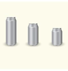 Aluminium cans set vector image