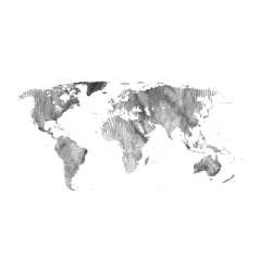 Map of the world global network mesh grid vector