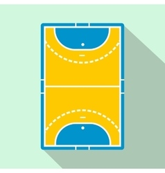 Handball field flat icon vector