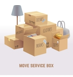 Move service box package cargo concept vector