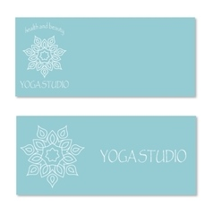 Design for yoga studio vector