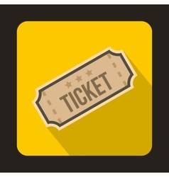 Ticket icon in flat style vector