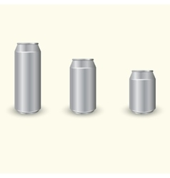 Aluminium cans set vector image vector image
