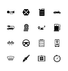 Automobile - flat icons vector