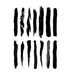 Brush blot vector image vector image