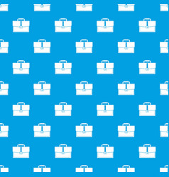 business briefcase pattern seamless blue vector image vector image