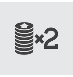 Casino bet icon vector image