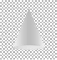Cone isolated on transparent background cone vector