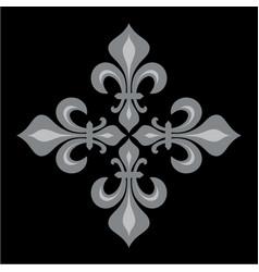 Croix fleurdelise vector