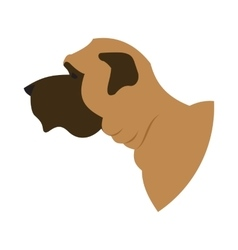 Dog head english mastiff vector