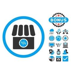 Drugstore sale flat icon with bonus vector