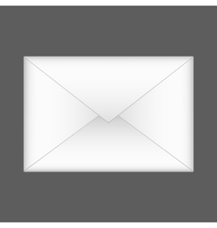 envelope on gray background Eps 10 vector image