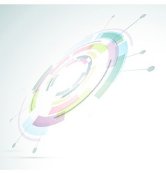 Gear abstraction colorful bright background vector image