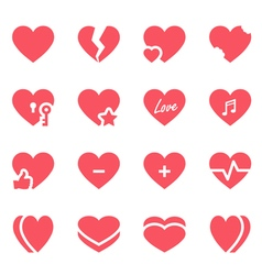 Heart icon set vector