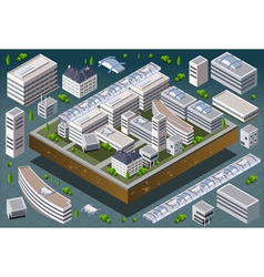 Isometric european building vector