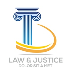 law building and justice icon logo vector image vector image