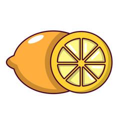 Lemon icon cartoon style vector