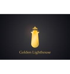 Lighthouse golden lighthouse logo creative logo vector