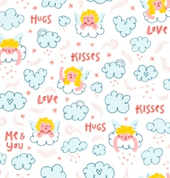 Love is in the air pattern vector image vector image